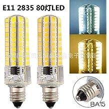 NIKU-LED E11 E12 E14 E17, G4, G8, G9 2835ba15 SMD 80 Lámpara 220V Resalte 5W Lámpara de silicona Pin maíz Bombillas LED de luz Fuente de luz,E11-Luz cálida