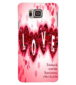 ColourCraft Love Quote Design Back Case Cover for SAMSUNG GALAXY ALPHA G850