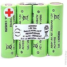 NX Batería NiMH 4x AA 4S1P ST1 4.8V 2000Ah S - Para electroestimuladores COMPEX