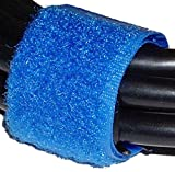 Cablematic - Cinta adherente ordena Cables 20x160mm 100 Unidades Azul