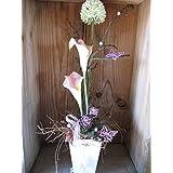 Trockengesteck mit Calla und Allium