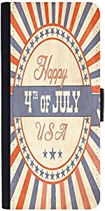 Snoogg Independence Day Greeting Card In Vintage Style Designer Protective Fl...