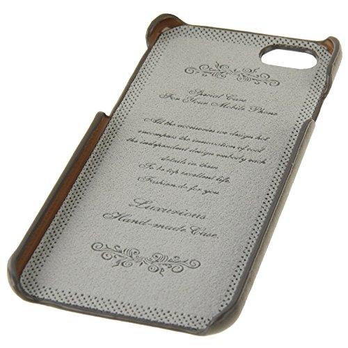 Phone case & Hülle Für iPhone 6 / 6S, gewachstes echtes Kuh-Leder-rückseitige Abdeckungs-Fall mit Einbauschlitz ( Color : Brown ) Grey