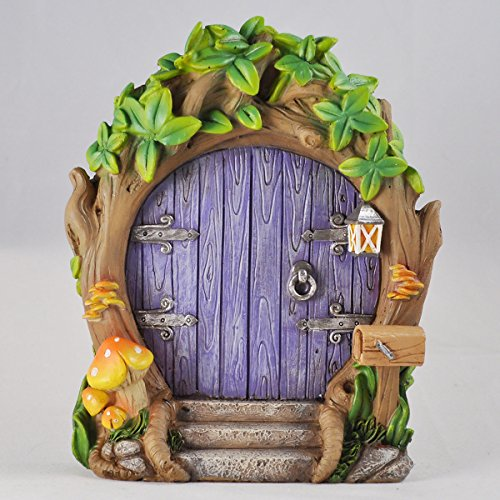 Magical Fairy Garden Designs: Fairy Garden UK Purple Forest Fairy Door Large Magical