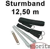 Moritz Original Sturmband 12,50 m Sturmsicherung Spannband für Vorzelt Vordach Dachhalteband Tent Safe Kit