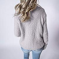 LILICAT® Mujeres Invierno Cuello Alto Cuello Alto suéter de Manga Larga Sudadera Damas Fluffy Jumpers suéter de Felpa Tops