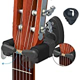 LC Prime Support mural en plastique pour guitare acoustique et basse Noir UPGRADE Auto Lock Design 2 Packs