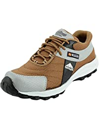 Charan Collections Brown Running Shoes Or Sport Shoes For Men