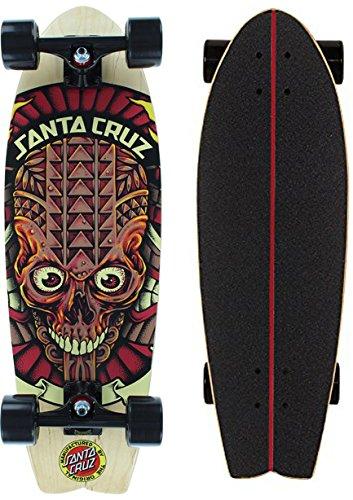 Santa Cruz Skateboard Longboard Tiki Skull Shark, 8.8 x 27.7 Zoll, SANLOBTISKSH