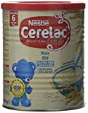 Nestlé CERELAC Rice with Milk Infant Cereal 400g, 6 months+ (Pack of 6)