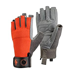 Black Diamond Crag Half Finger Gloves – Guantes de Escalada, Via Ferrata y Entrenamiento