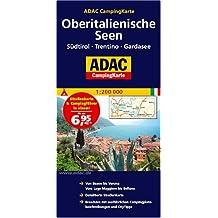 ADAC CampingKarte Oberitalienische Seen: Südtirol - Trentino - Gardasee