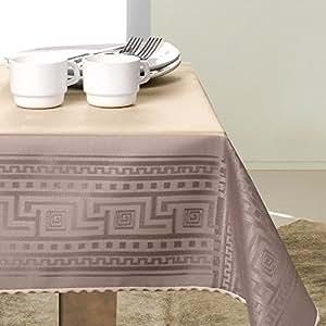 140x300 cappuccino Tischdecke Tischtuch elegant praktisch pflegeleicht fleckgeschützt 4003