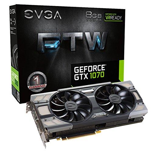 EVGA GeForce GTX 1070 FTW GAMING ACX 3.0, 8 GB GDDR5 (256 Bit), HDMI, DVI, 3xDP -