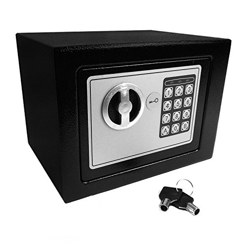 Hyfive Hohe Sicherheit Home Safe Safe Secure Storage Box mit Tastatur und Key Lock -