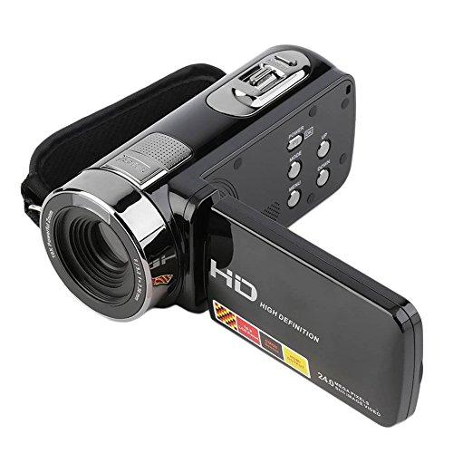 3,0-Zoll-FHD 1080P 16-Fach-Zoom 24MP Digitaler Camcorder, Tragbare Kompaktkamera DV, Automatische Abschaltung, TV-Ausgang, COMS-Sensor-Kamera, Schwarz.