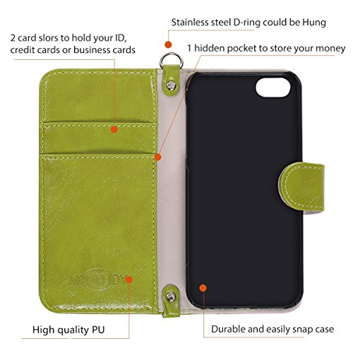 Harris Tweed iPhone SE/5/5S/7plus Flip Case Cover MONOJOY Fabrics and Synthetic Leather Suede Folio Wallet Case with Card Slot Money Pouch Magnetic Clasp Keyring Retro Handmade (iPhone 5/5s/se (4.0