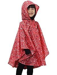 Unisex Enfant Manteau Imperméable - Cape/ Ponchos de Pluie avec Capuche - Chauves souris Raincoat Cape Imperméable Léger aux Enfants de Bébé