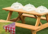 Set of 3 Food Tents 17x17 Inches with 4 Tablecloth Clamps That Will Keep Your Picnic Tablecloth in Place , Great for Camping, Picnics and More Outdoor Events. Opens and Folds Like an Umbrella