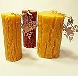 Honig Kerze Handgemacht aus Bienenwachs Motiv Stamm Bienenwachskerzen, Dekoration Beeswax Candles