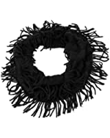 Ladies Tassels Accent Knitted Warmer Neck Wraps Scarf