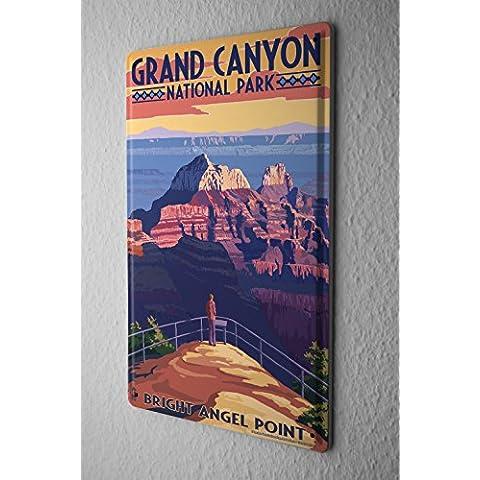 Cartel Letrero de Chapa Agencia De Viajes Vacaciones Bright Angel Point