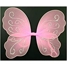 Rosa Pequeña Butterfly Angel Purpurina Alas De Hada para niñas / infantil