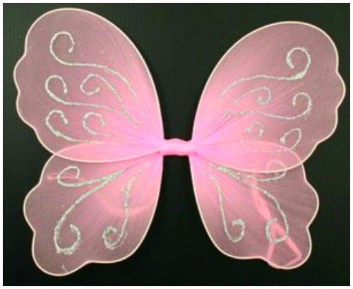 Kleine Rosa Butterfly Angel Glitzer Feenflügel für mädchen / kinder (Feenflügel Für Mädchen)