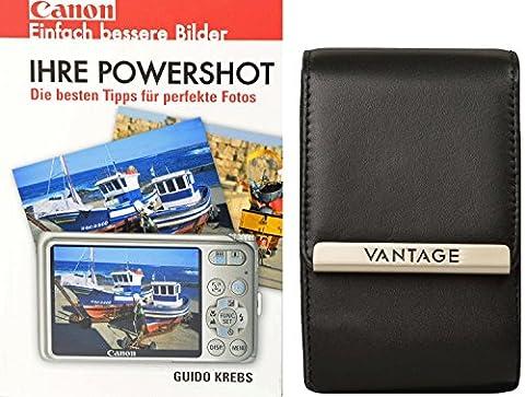 VANTAGE LEATHER BLACK plus Fotobuch Canon Powershot für Canon