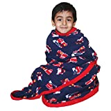 Soft fleece blanket for Toddlers, kids AC blanket - firetruck print : Kadambaby