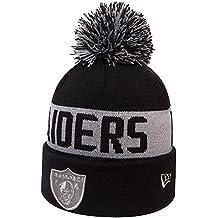 New Era Oakland Raiders Bobble Knit Gorro, Hombre, Negro, Talla Única