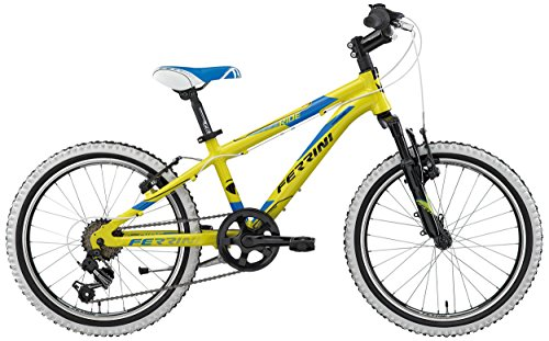 Vtt 20 Ferrini Ride Semi Rigide Garcon En Aluminium 6 Vitesses Shimano Poignee Tournante Freins V Brake Et Fourche Telescopique