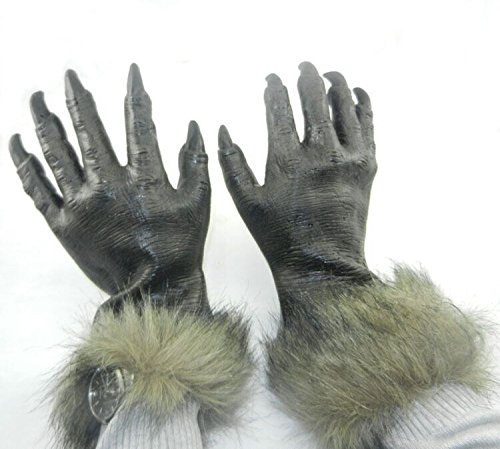 GFEU 1 Paar Scary Halloween Werwolf Handschuhe Wolf Pfoten Kostüm Fancy Kleid Requisiten Werkzeug toller Halloween, Cosplay Kostüm Party (Paar Scary Halloween-kostüme)