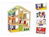 Puppenhaus von Hape ,,4 Jahreszeiten' aus Holz, inkl. Möbel, 35 Teile. Mit Puppenset &...