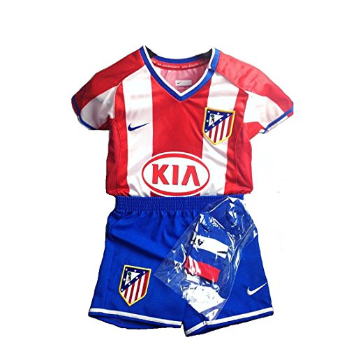 Athletico Madrid, Spanien rot-weiß gestreift baby Trikot Nike Short set rot red, white, blue 6-9 Monate