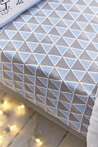 Bianca nordique coton impression 100% coton bleu Drap housse double
