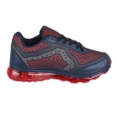 Ital-Design, Sneaker donna Blu (Blu/Rosso)