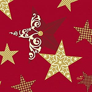 Duni Servietten 3-lagig Motiv Walk of Fame Red 33 x 33 cm 50 Stück