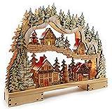 XL LED Schwibbogen mit Timer Weihnachtsdorf im Erzgebirge Original Wichtelstube Schwibbogen