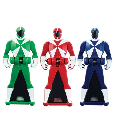 Power Rangers Super Megaforce - Lightspeed Rescue Legendary Ranger Key Pack, Red/Blue/Green by Power Rangers (Ranger-schlüssel Super Megaforce)