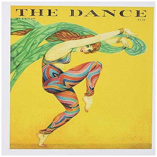 3drose Bild Art-Deco-Lady in Kostüm Dancing on Magazin Cover-Grußkarten, 15,2x 15,2cm, Set 6(GC 171631_ 1) (Kostüm Magazin)