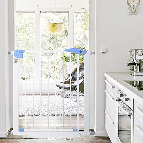 Tür- & Treppengitter Extra breites Baby-Tor für Treppengeländer, druckgepasste Hundetore aus Metall mit Durchgangstür, 75-201 cm breit, 76 cm hoch (größe : 127-134cm)