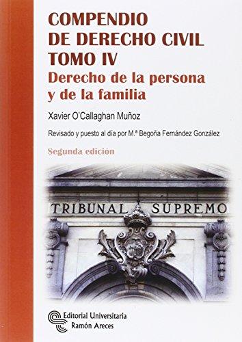 Compendio de Derecho Civil T IV: 4 (Manuales)