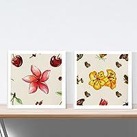 PACK de láminas para enmarcar NO SOLO FLORES. Posters cuadrados con imágenes de collages. Decoración de hogar. Láminas para enmarcar. Papel 250 gramos alta calidad