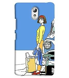 Blue Throat Man Sitting Single Alone For Ever Printed Designer Back Cover/Case For Lenovo Vibe P1M