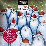 Caja de 20tarjetas navideñas (alm3760), diseño de pingüino sombreros/Rudolph Amigos de–se venden en ayuda de la Royal asociación Nacional Bote Salvavidas