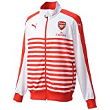 Puma Herren Jacke AFC T7 Anthem Jacket with Sponsor, High Risk Red-White, XXL