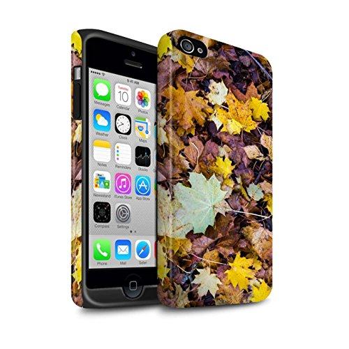 STUFF4 Matte Harten Stoßfest Hülle / Case für Apple iPhone 4/4S / Wald Muster / Herbst Saison Kollektion Laub