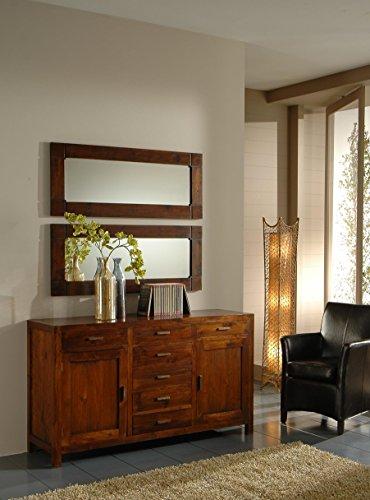 Mobile Buffet soggiorno o cucina, stile etnico coloniale moderno realizzato artigianalmente in legno massello di Teak - SCONTO OUTLET