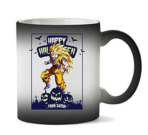 ween from Saiyan Dragon Ball Anime DBZ Jack O Lantern Tasse Hitze Farbwechsel ()